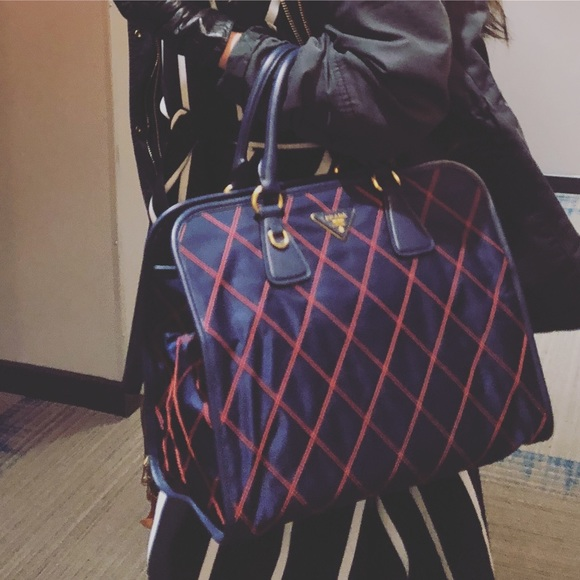 f694df4fd31 Prada Bags | Navy Blue Impunturato Tessuto Nylon | Poshmark